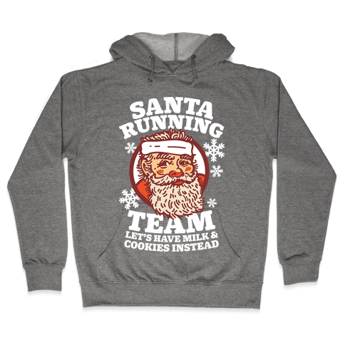 Santa Running Team Hooded Sweatshirt