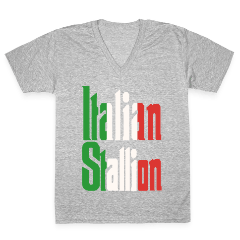 Italian Stallion V-Neck Tee Shirt