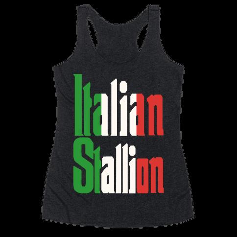 Italian Stallion Racerback Tank Top
