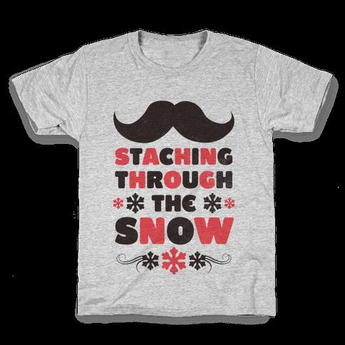 Staching Through the Snow Kids T-Shirt