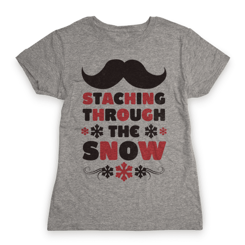 Staching Through the Snow Womens T-Shirt