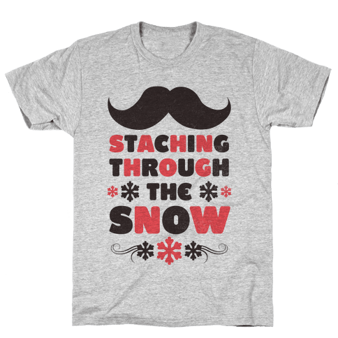 Staching Through the Snow Mens T-Shirt