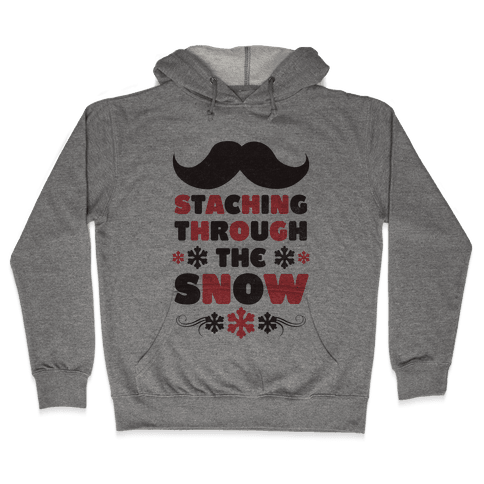Staching Through the Snow Hooded Sweatshirt