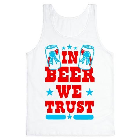 In Beer We Trust Tank Top