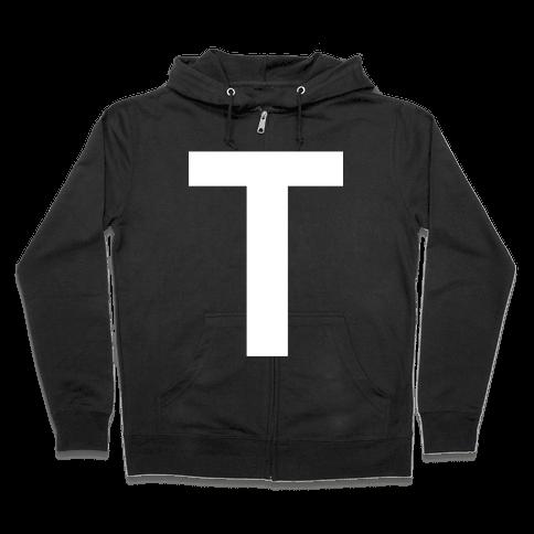 Optical T-llusion Zip Hoodie