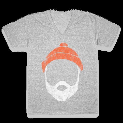 Zissou Minimal (vintage) V-Neck Tee Shirt