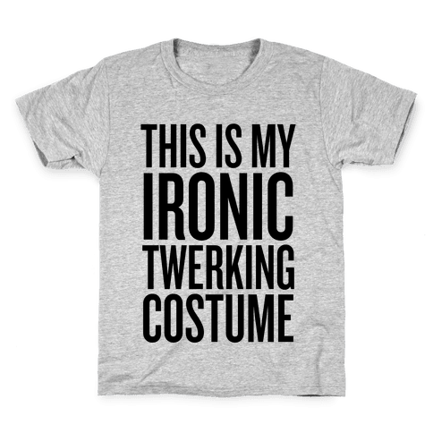 Ironic Twerking Costume Kids T-Shirt