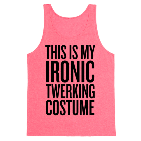 Ironic Twerking Costume Tank Top