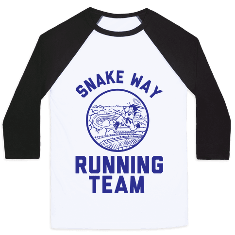 Snake Way Running Team Baseball Tee