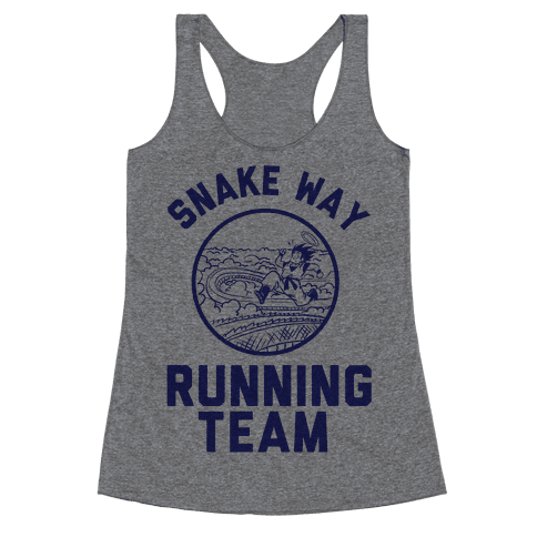 Snake Way Running Team Racerback Tank Top