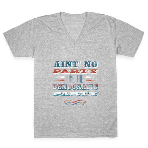 Democratic Party Shirt V-Neck Tee Shirt