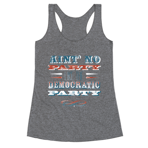 Democratic Party Shirt Racerback Tank Top