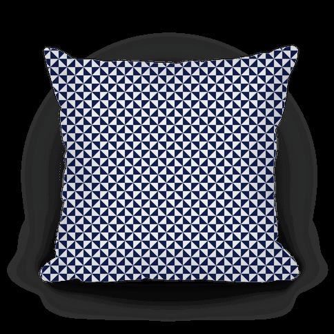 Navy Pinwheel Pattern
