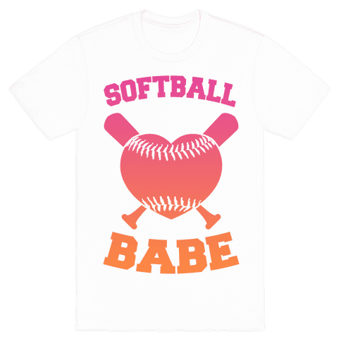 Softball Babe Mens T-Shirt