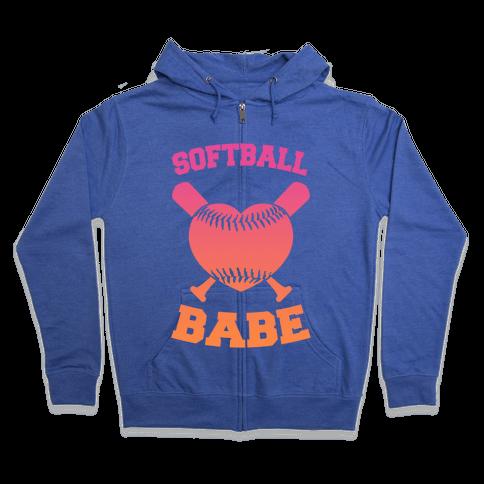 Softball Babe Zip Hoodie