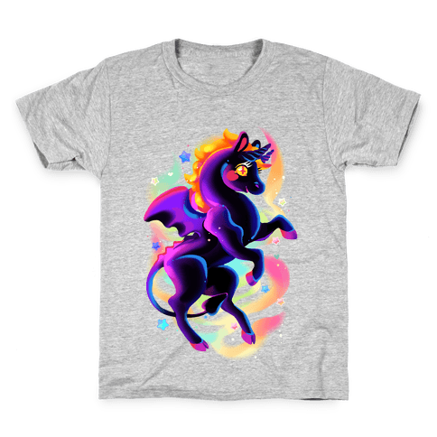 Neon Rainbow Jersey Devil Kids T-Shirt