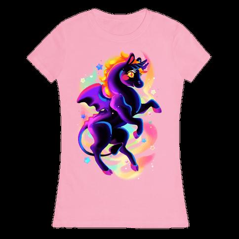 Neon Rainbow Jersey Devil Womens T-Shirt
