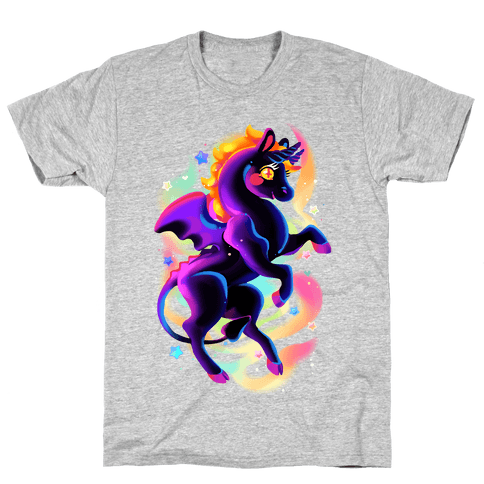 Neon Rainbow Jersey Devil Mens T-Shirt