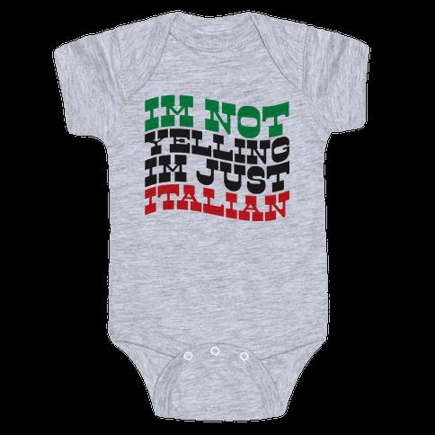 Not Yelling Baby Onesy
