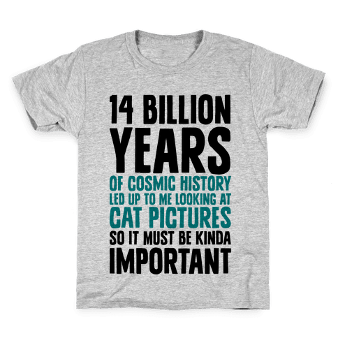 14 Billion Years of Cosmic History Kids T-Shirt