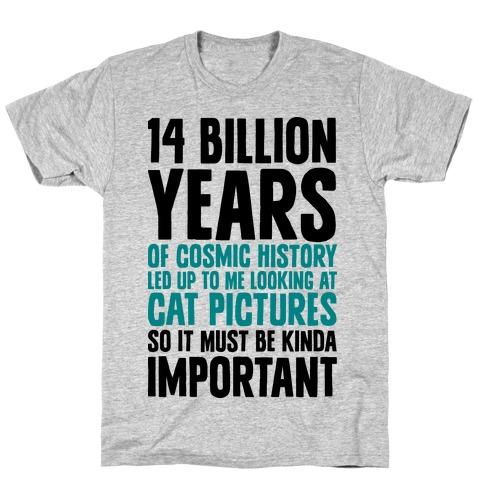 14 Billion Years of Cosmic History T-Shirt
