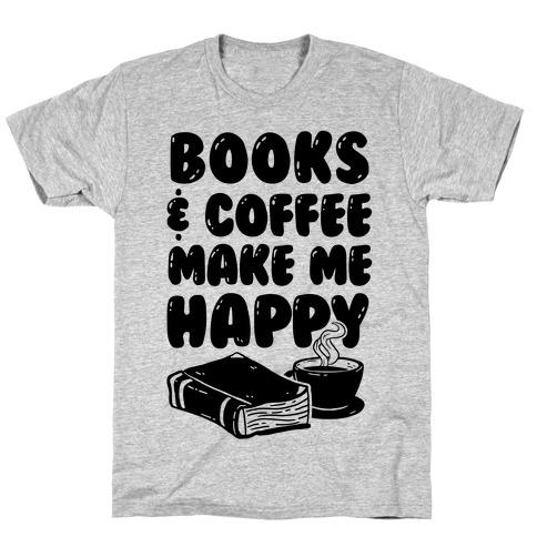 Books and Coffee Shirt Coffee Shirt Books T-shirt Tops and Tees Women/'s Shirt Coffee Tee Books and Coffee Tee Graphic Shirt