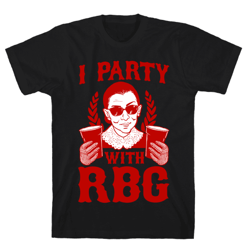 I Party With RBG Mens T-Shirt