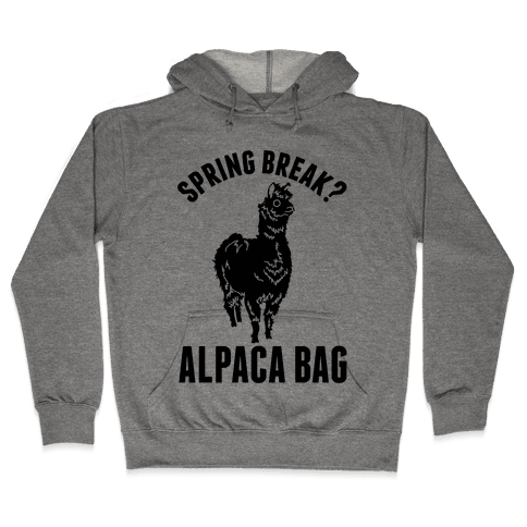 Spring Break? Alpaca Bag Hooded Sweatshirt