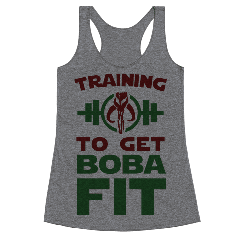 Training to Get Boba Fit Racerback Tank Top