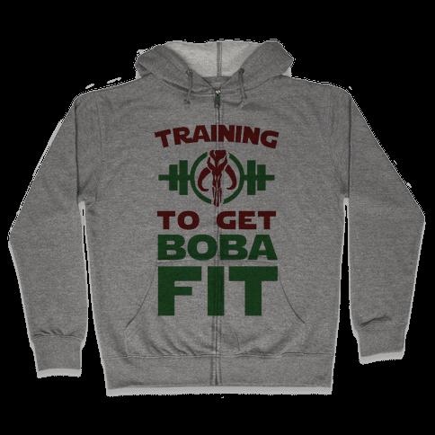 Training to Get Boba Fit Zip Hoodie