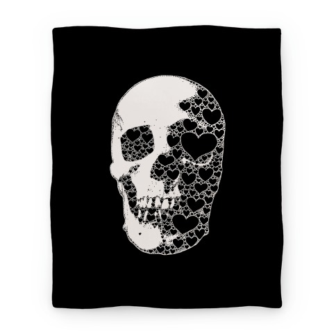 Heart Skull Blanket