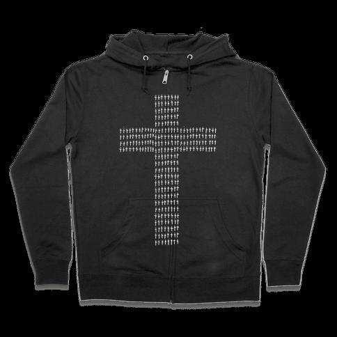 Crosses Zip Hoodie