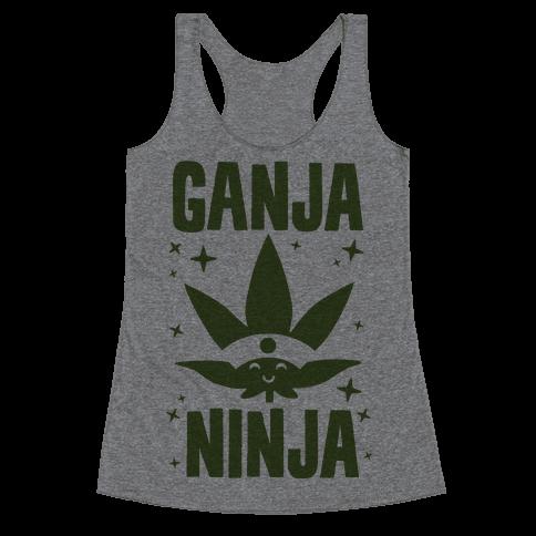 Ganja Ninja Racerback Tank Top