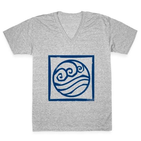 Water Bender V-Neck Tee Shirt