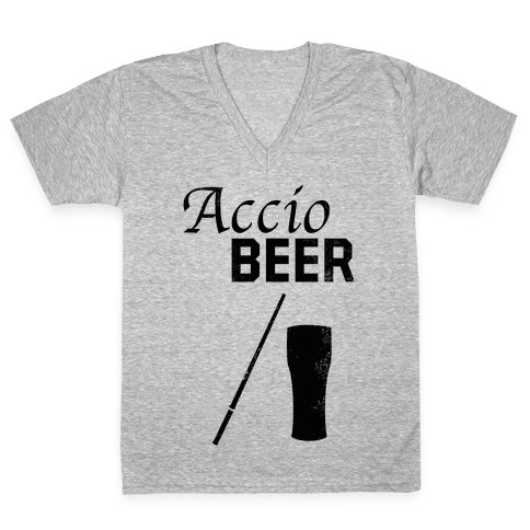 Accio BEER V-Neck Tee Shirt