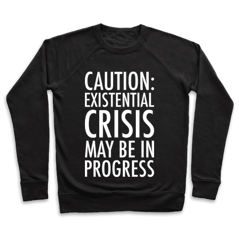 Caution: Existential Crisis May Be In Progress Pullover
