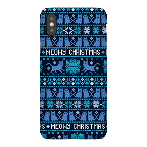Meowy Christmas Cat Sweater Pattern Phone Case