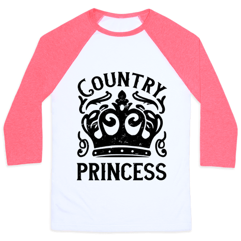 Country Princess Baseball Tee