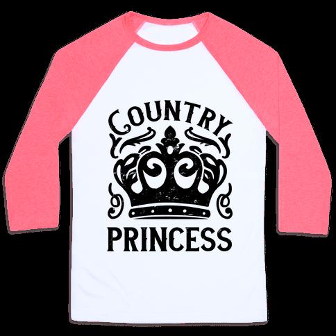 Country Princess Baseball Tee