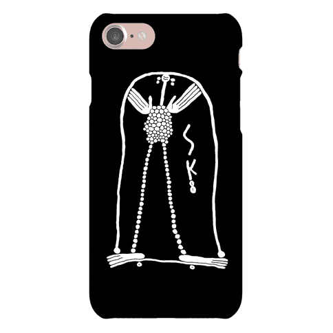 Skateboarder Touching Her Hair Phone Case