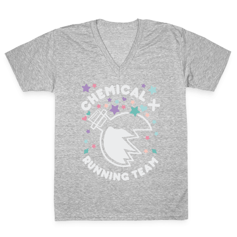 Chemical X Running Team V-Neck Tee Shirt