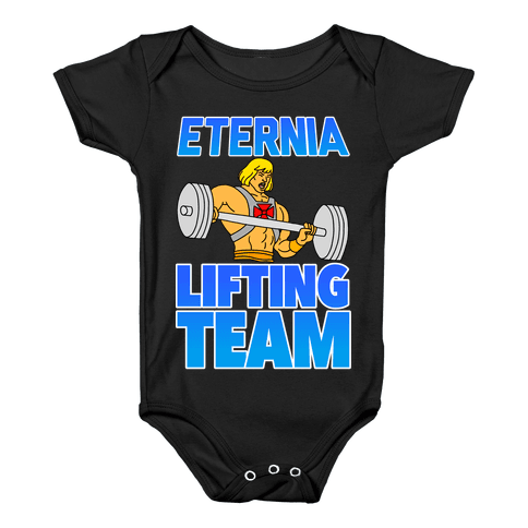 Eternia Lifting Team Baby Onesy