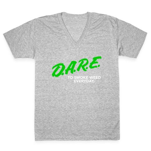 DARE Parody (Weed) V-Neck Tee Shirt