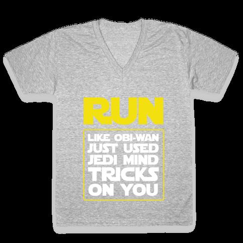 Run Like Jedi Mind Tricks Made You V-Neck Tee Shirt