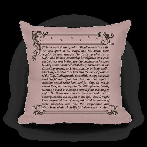 Sherlock Holmes Book Passage Pillow