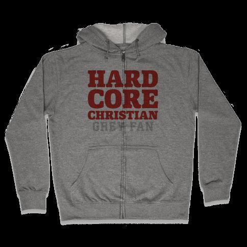 Hardcore Christian Grey Fan Zip Hoodie