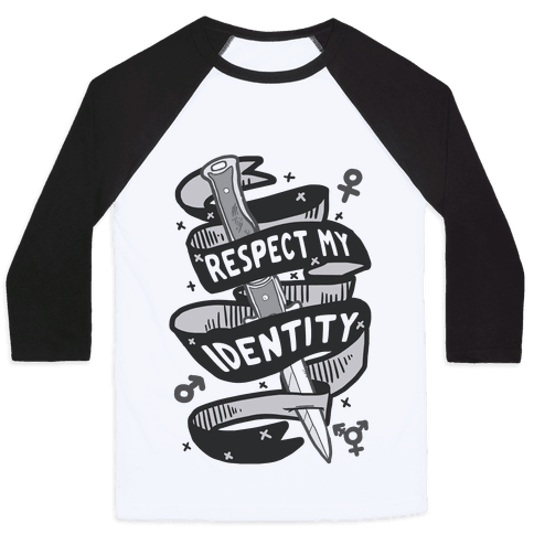 Respect My Identity Baseball Tee