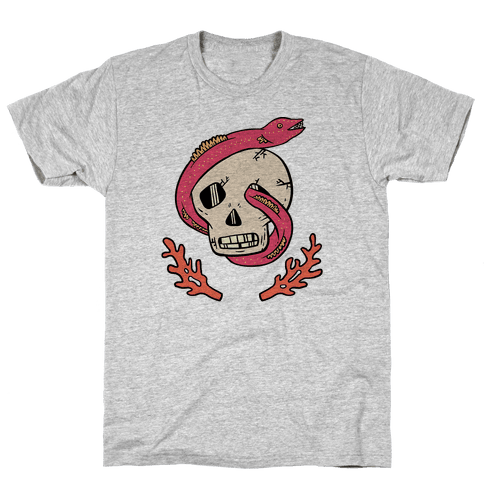 Skull and Coral Crossbones Mens T-Shirt