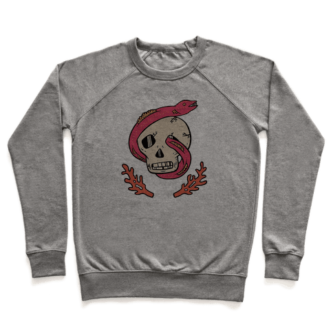 Skull and Coral Crossbones Pullover