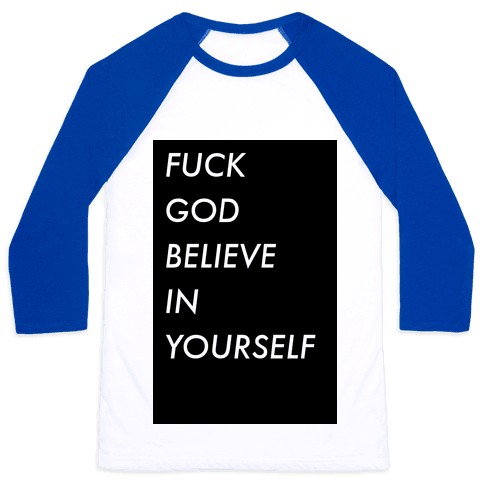 Believe In Yourself Baseball Tee